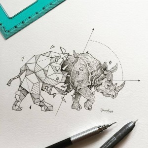 Abstract-Geometric-Animal-Illustration-Kerby-Rosanes-7